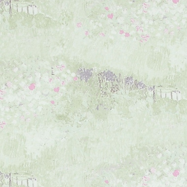 Walls Republic Garden 32.97'' x 20.8'' Floral and botanical Wallpaper; Pastel Green