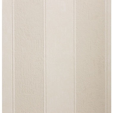 Walls Republic Antiquated 32.97'' x 20.8'' Stripes Wallpaper; Beige