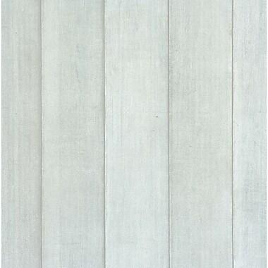 Walls Republic 32.97' x 20.8'' Barrier Faux Wood Wallpaper; Blue/Gray