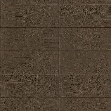 Walls Republic Soft Crocodile 32.97'' x 20.8'' Wallpaper; Brown