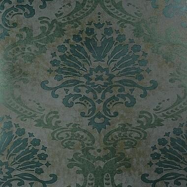 Walls Republic Luxurious Metallic Rich 27.5'' x 27.5'' Damask Wallpaper; Blue