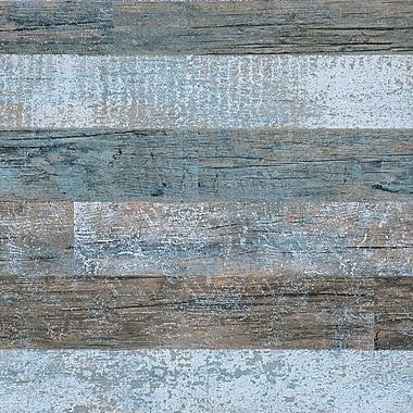 Walls Republic 32.97' x 20.8'' Timber Faux Wood Wallpaper; Brown/Orange