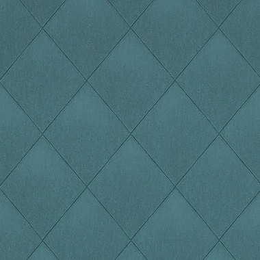 Walls Republic Modern 33' x 20.8'' Padded Textile Wallpaper; Teal