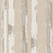 Walls Republic Contemporary 33' x 20.8'' Metallic Paper Birch Wallpaper; Beige