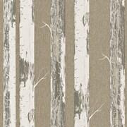 Walls Republic Contemporary 33' x 20.8'' Metallic Paper Birch Wallpaper; Gold