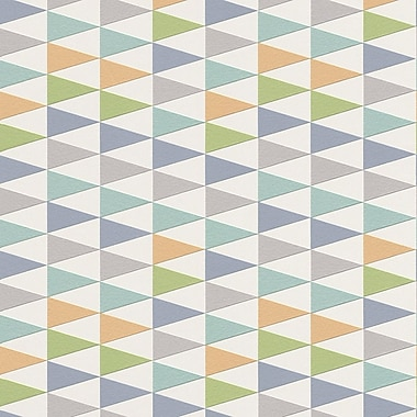 Walls Republic Modern 33' x 20.8'' Geometric Trigonal Wallpaper; Blue / Orange