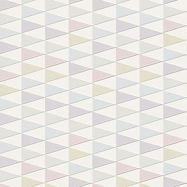 Walls Republic Modern 33' x 20.8'' Geometric Trigonal Wallpaper; Pink / Purple