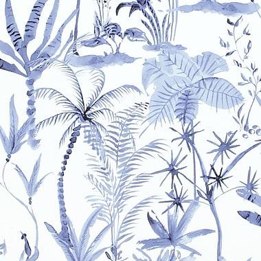 Walls Republic 33' x 20.8'' Natural Desert Tropics Wallpaper; Navy / White