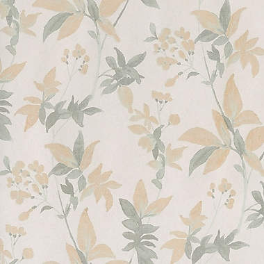 Walls Republic 32.5' x 27.5'' Floral Classic Blooming Dreams Wallpaper; White / Orange