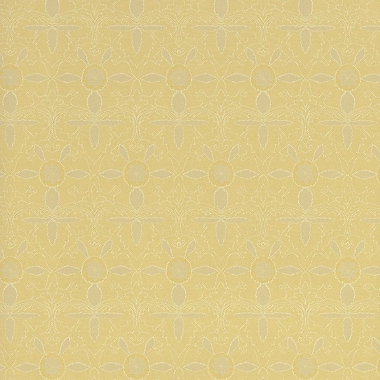 Walls Republic Classic 32.5' x 27.5'' Floral Damask in the Forest Wallpaper; Yellow / White