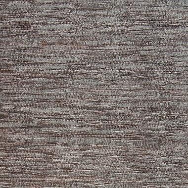 Walls Republic Metallic Grasscloth 18' x 36'' Abstract Wallpaper Roll; Gray/Brown