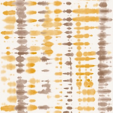 Walls Republic Retro Tie Dye Abstract 33' x 20.8'' Wallpaper Roll; Yellow / Taupe