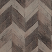 Walls Republic Wood Weathered Herringbone 33' x 20.8'' Wallpaper Roll; Dark Brown