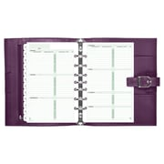 "Day-Timer® Starter Set, Undated, 7 Ring, Desk Size, 5 1/2"" x 8 1/2"", Purple (70303)"
