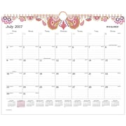 "AT-A-GLANCE® Sugar Plum Academic Monthly Wall Calendar, 12 Months, July Start, 14 7/8""x11 7/8"", Wirebound (W186-707A-18)"