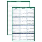 "AT-A-GLANCE® Vertical Erasable Wall Calendar, 12 Months, Reversible for Notes and Planning Space, 24""x36"" (PM210P-28-18)"