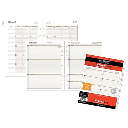 at a glance day runner weekly planner refill loose leaf 12