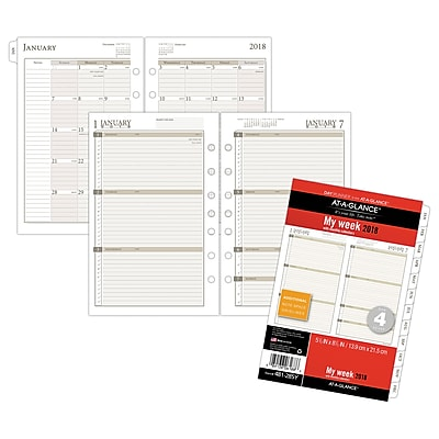 AT-A-GLANCE® Day Runner® Weekly/Monthly Planner Refill, Loose-Leaf, 12 Months, January Start, 5 1/2