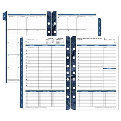 Franklin Covey Monticello Dated One-Page-Per-Day Planner Refill, 5 1/2 X 8 1/2, 2019 (37062-18)