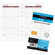 "AT-A-GLANCE® Day Runner® Daily Planner Refill, 12 Months, January Start, Loose-Leaf, 3 3/4"" 6 3/4"" (063-125Y-18)"