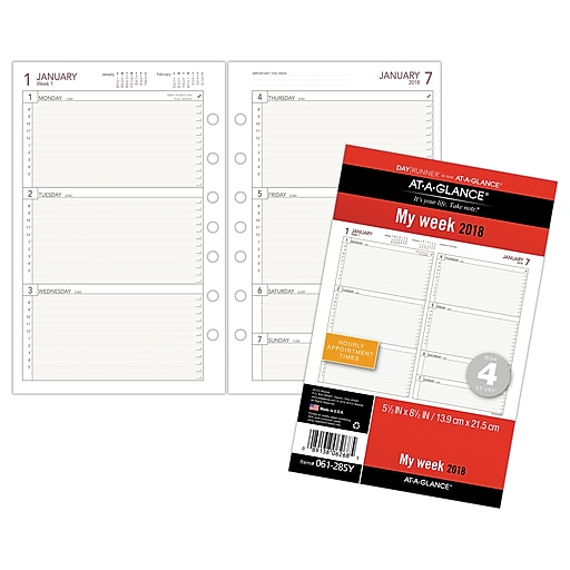at a glance day runner weekly planner refill 12 months january