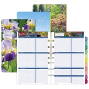 "Day-Timer® Garden Path Two Page Per Week Refill, 12 Months, January Start, Loose-Leaf, Desk Size, 5 1/2""x8 1/2"" (13493-1801)"
