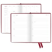 "AT-A-GLANCE® Signature Collection™ Weekly/Monthly Planner, 13 Months, January Start, 5 3/4""x8 1/2"", Red (YP200-1018)"