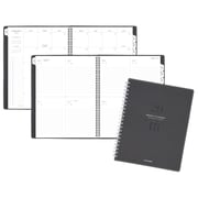 "AT-A-GLANCE® Signature Collection™ Weekly/Monthly Planner, 13 Months, January Start, 8 3/4""x11"", Heather Gray (YP905-4518)"