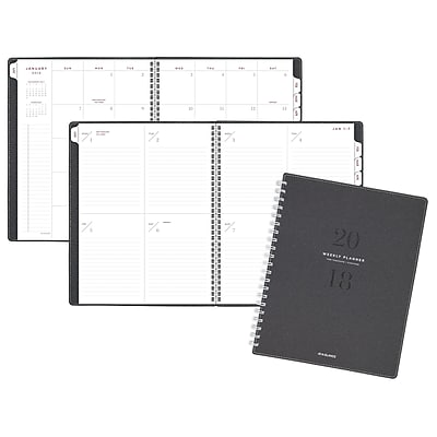AT-A-GLANCE® Signature Collection™ Weekly/Monthly Planner, 13 Months, January Start, 8 3/4