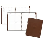 "AT-A-GLANCE® Signature Collection™ Weekly/Monthly Planner, 13 Months, January Start, 8 3/4""x11"", Brown (YP905-0918)"