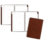"AT-A-GLANCE® Signature Collection™ Weekly/Monthly Planner, 13 Months, January Start, 5 3/4""x8 1/2"", Brown (YP200-0918)"