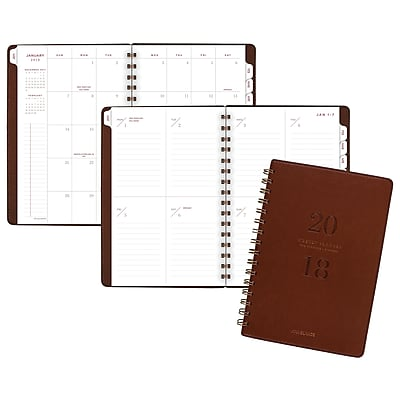 AT-A-GLANCE® Signature Collection™ Weekly/Monthly Planner, 13 Months, January Start, 5 3/4