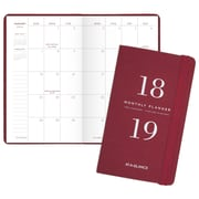 "AT-A-GLANCE® Signature Collection™ Monthly Pocket Planner, 24 Months, January Start, 3 5/8""x6 1/8"", Red (YP021-1218)"