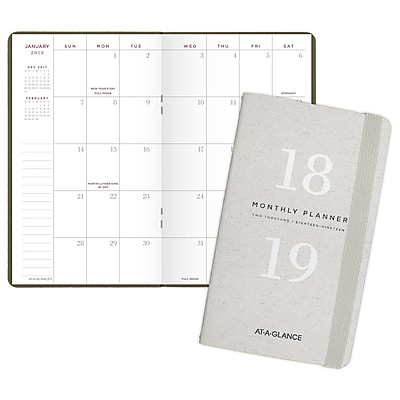 AT-A-GLANCE® Signature Collection™ Monthly Pocket Planner, 24 Months, January Start, 3 5/8