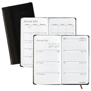 "AT-A-GLANCE® Fine Diary® Leather Fine Diary, Monthly/Weekly, 12 Months, January Start, 3 1/8""x6"", Bookbound (74-02-00-18)"