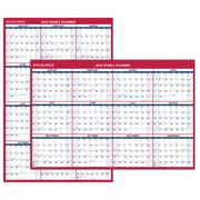 "AT-A-GLANCE® Vertical/Horizontal Erasable Wall Calendar, January 2018-December 2018, Reversible, 48""x32"" (PM326P-28-18)"