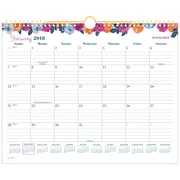 "AT-A-GLANCE® Eva Monthly Wall Calendar, 12 Months, January Start, 15""x12"", Wirebound (W1044-707-18)"