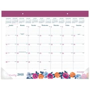 "AT-A-GLANCE® Eva Monthly Desk Pad, 12 Months, January Start, 22""x17"" (D1044-704-18)"