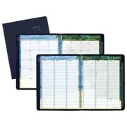 "AT-A-GLANCE® DayMinder® Tropical Escape Weekly/Monthly Appointment Book, 12 Months Jan Start, 8 1/2""x11"", Navy (GTE52-20-18)"