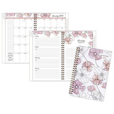 AT-A-GLANCE® Blush Weekly/Monthly Planner, 12 Months, January Start, 4 7/8