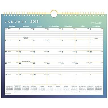 AT-A-GLANCE® Aurora Monthly Wall Calendar, 12 Months, January Start, 15