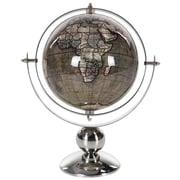 Bloomsbury Market Silver & Brown Stainless Steel Globe