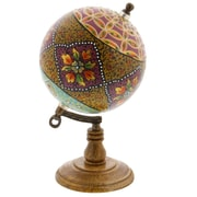 Bloomsbury Market Hand-crafted Floral Marble Globe