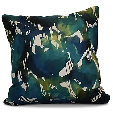 Bloomsbury Market Kam Abstract Floral Outdoor Throw Pillow; 16'' H x 16'' W x 2'' D