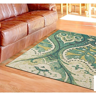 Bloomsbury Market Joshawn Hand-Loomed Teal/Green Area Rug; 4' x 6'