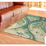 Bloomsbury Market Joshawn Hand-Loomed Teal/Green Area Rug; 5' x 8'