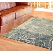Bloomsbury Market Joshawn Hand-Loomed Light Blue Area Rug; 4' x 6'