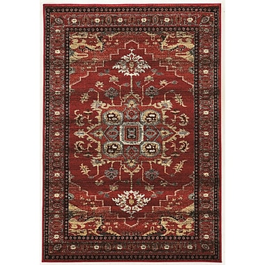 Bloomsbury Market Shelie Mahal Red/Beige Area Rug; 2' x 3'