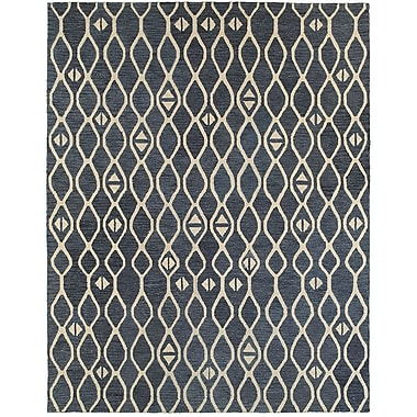 Bloomsbury Market Mary-Kate Hand-Crafted Blue Area Rug; 8'9'' x 11'9''
