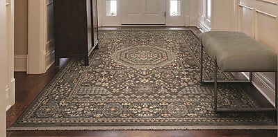 Bloomsbury Market Nickalos Gray Area Rug; 9'10'' x 12'11''
